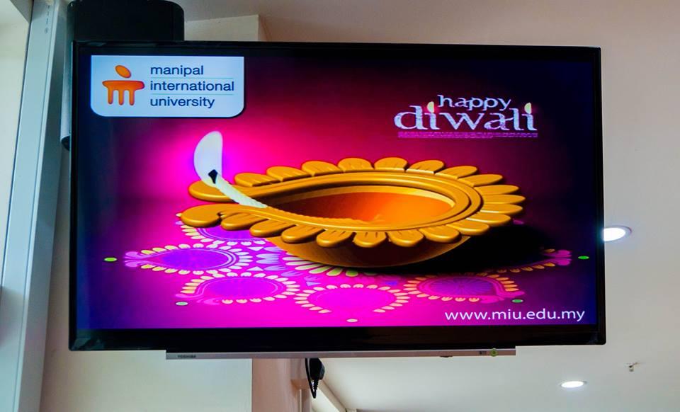 MIU Diwali Message Diplayed On Tv