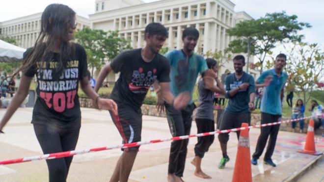 Students Participating At Miu Fun & Colour Day