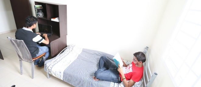Students In Hostel Room