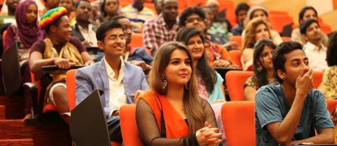 Students Attending A Seminar