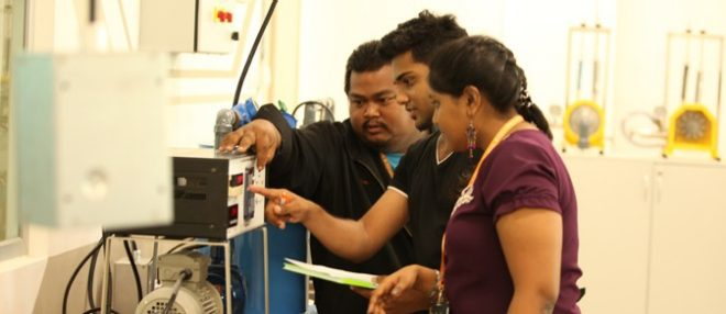 MIU Students Wokring On A Science Project