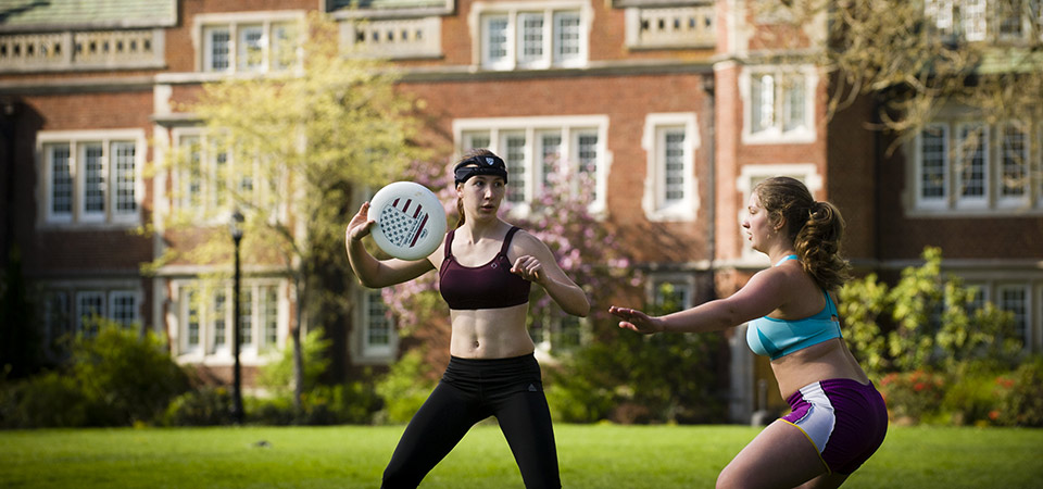 Female Students Exercising